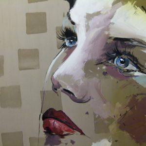 Albert Sesma - Rostro. 100 x 100. Acrilico madera 300€