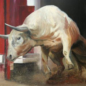 Albert Sesma - Torito II. Oleo lienzo. 100 x 81cm 1600€