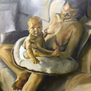 Albert Sesma - Yannick y mamá. 150 x 100 cm. 12.000€