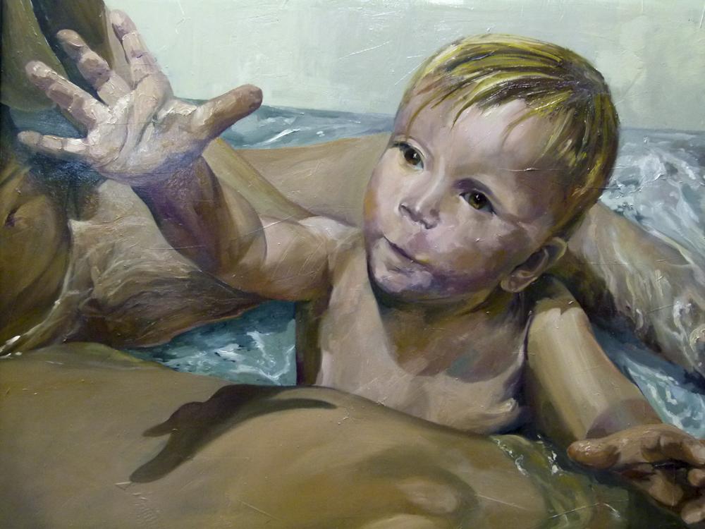 Albert Sesma - Yannick. 100 x 100cm. Oleo madera. 15.000€